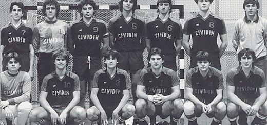 Cividin pallamano e Stefano Rocca