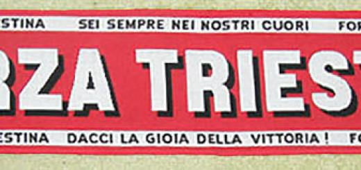 sciarpa Triestina calcio