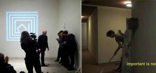 la cerimonia di premiazione allo Studio Tommaseo con Dalibor Martinis - still da Thymélé I di Bastien Poncelet