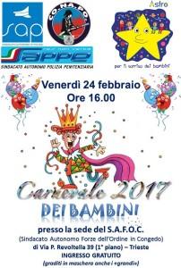 Carnevale dei Bambini 2017 Sap Sappe Conapo