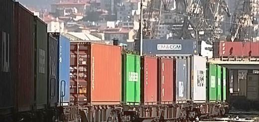 traffico ferroviario container