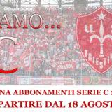 tessere abbonamento Triestina Calcio 2017-18
