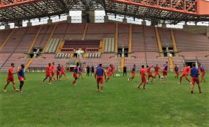 Unione Triestina calcio training
