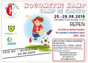 NK Kras Kamp Camp calcistico Repen Monrupino