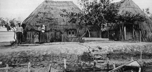 Grado, casoni - Cartolina primi Novecento
