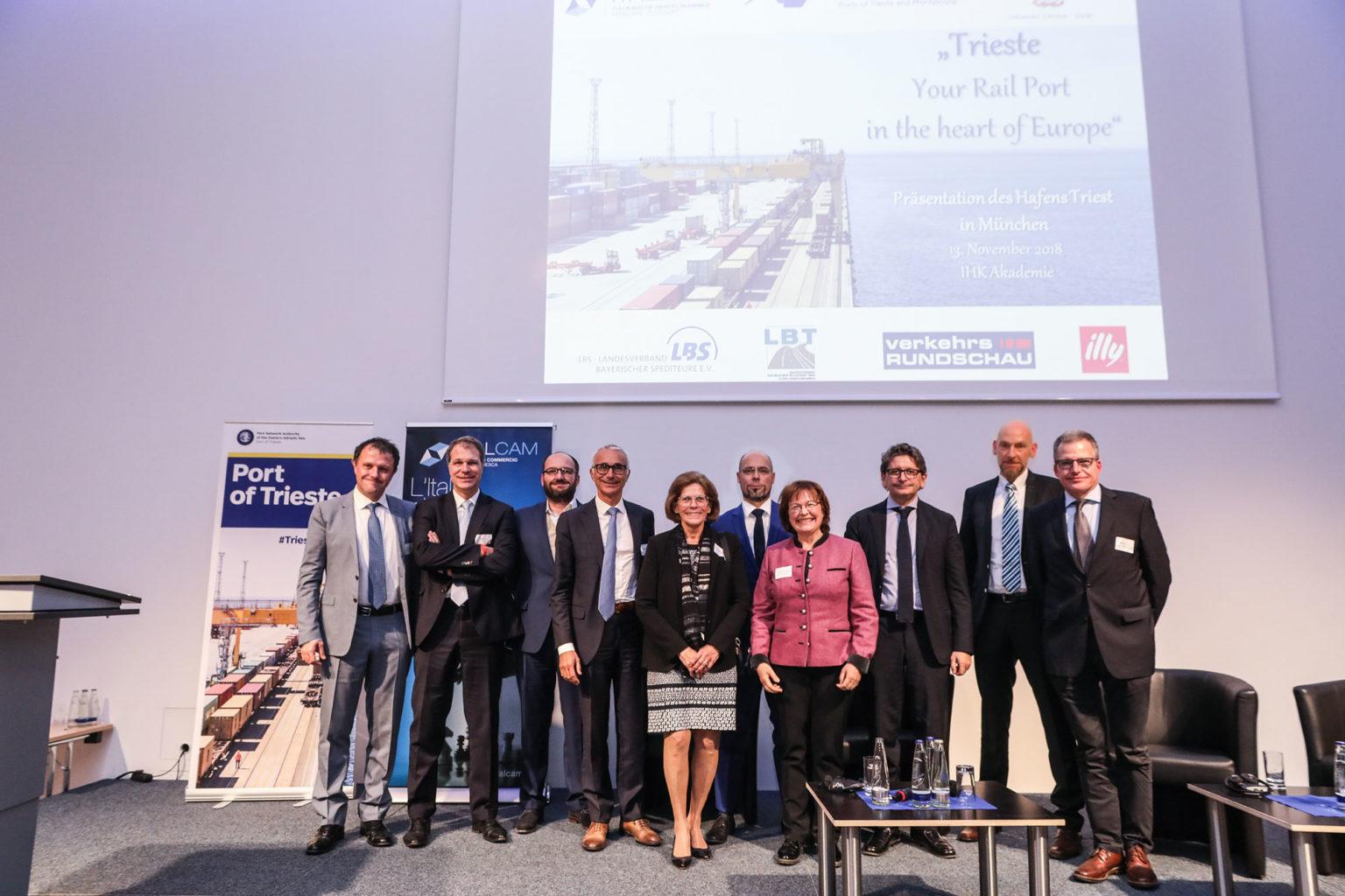 Zeno D'Agostino e relatori a Monaco di Baviera