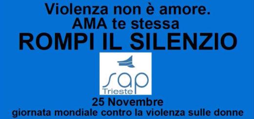 Sap Trieste contro violenza sulle donne