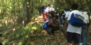 migranti sentiero bosco