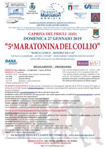 Maratonina del Collio 5 edizione V