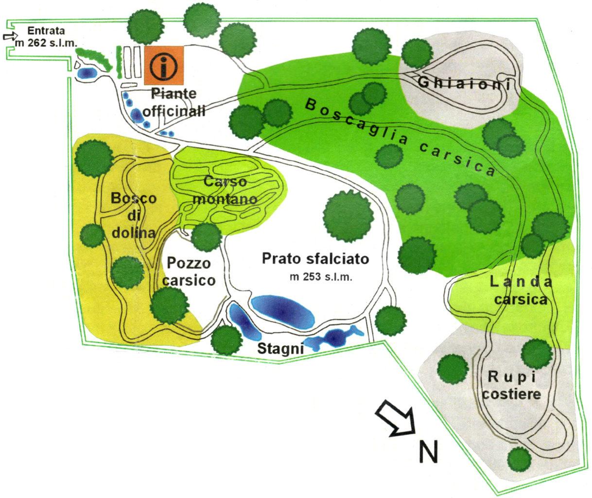 Carsiana Giardino Botanico mappa