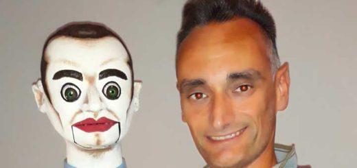 il pupazzo Jeffrey e il suo creatore Ugo Puglisi