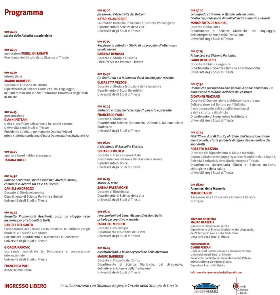 programma auschwitz 2019