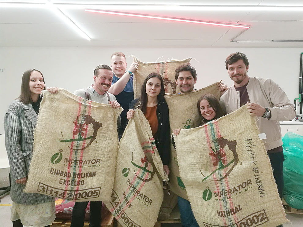 Alberto Polojac con Verlé Coffee Roasters - Roasting Area Bloom Coffee School