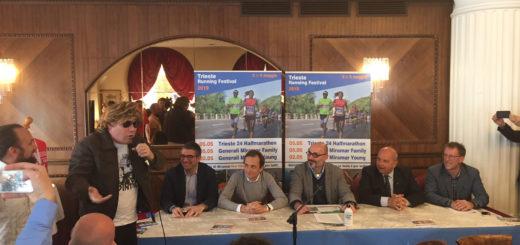 conferenza stampa Trieste Running Festival con Maxino e Uolter