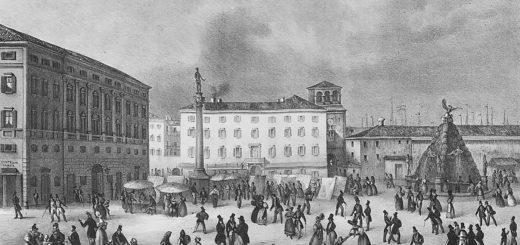 Trieste settecentesca - teatro San Pietro in piazza Grande