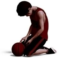 giocatore pallacanestro triste