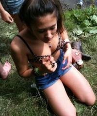 ragazza schiava