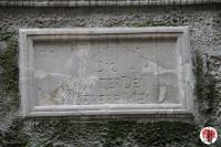 Trieste - via delle Monache - edicola di devozione targa