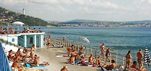 Barcola Topolini bagnanti Trieste