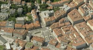Trieste via Mazzini e piazza Goldoni