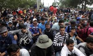 gruppo di emigranti
