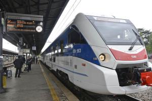 Treno ETR 563 stazione centrale di Trieste