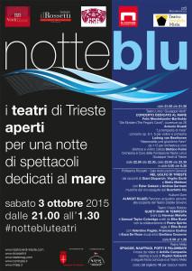 Notte Blu teatri aperti a Trieste