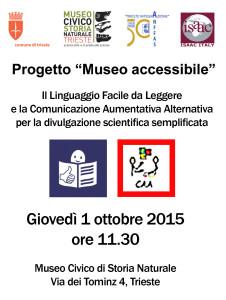 Progetto Museo Accessibile 2015 Trieste