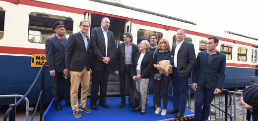 inaugurazione treno Porto vecchio Trieste - le autorità