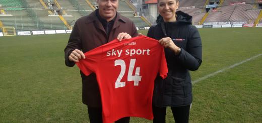 Triestina calcio Mauro Milanese maglietta Sky