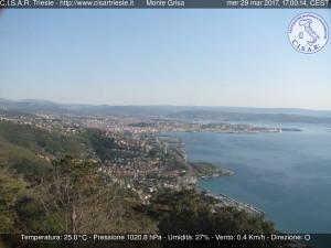 cam monte Grisa Cisar 29 marzo 2017 Trieste