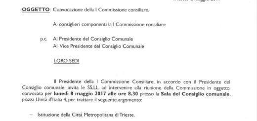 convocazione commissione consiliare Città Metropolitana
