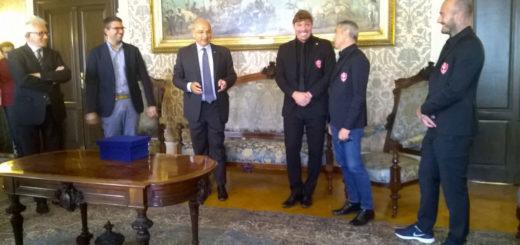 delegazione Triestina calcio Roberto Dipiazza