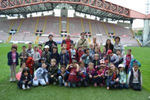 scuola elementare Ruggero Manna allo stadio Nereo Rocco