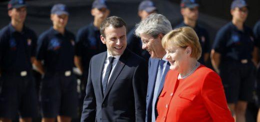 vertice Balcani Trieste 12 luglio 2017 Macron Merkel Gentiloni