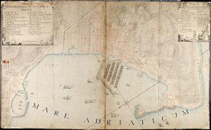 Trieste, pianta della città e Porto Franco