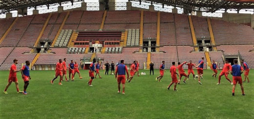 Unione Triestina calcio training