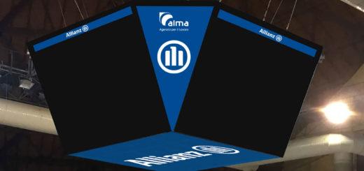 Alma Arena pallacanestro Trieste segnapunti maxischermo