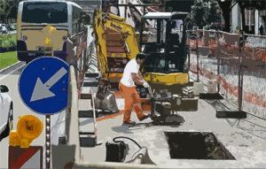 cantiere stradale manutenzione