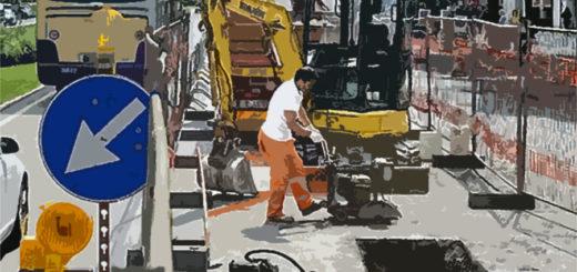 Trieste cantiere stradale manutenzione