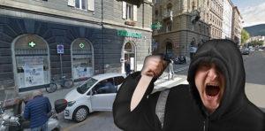 rapina farmacia all'Amazzone Trionfante via Giulia Trieste