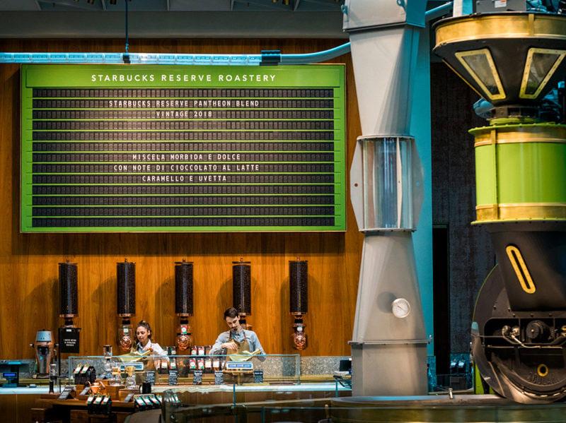Starbucks display palette Solari