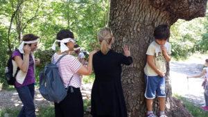 giocare con la natura bambini a Prosecco Cooperativa Curiosi di Natura