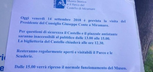 chiusura Parco di Miramare Conte