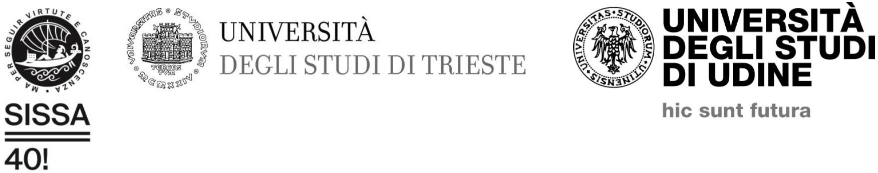 Sissa Università di Trieste Università di Udine