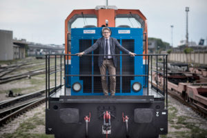 Zeno D'Agostino sul treno