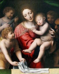 Bernardino Luini Madonna con Gesù bambino e angeli