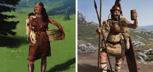 uomo e donna di Kosinj