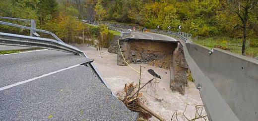 Friuli strada rotta maltempo
