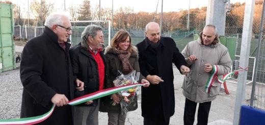 inaugurazione campo calcio Borgo San Sergio Trieste assessore Rossi e Roberto Dipiazza